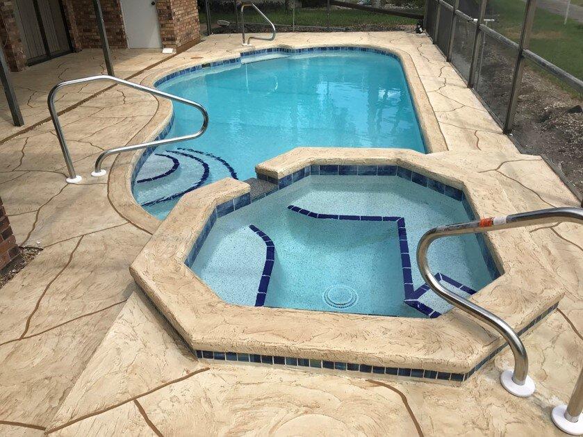 Pool Decks and Pavers   Spraycreate Stone Pattern