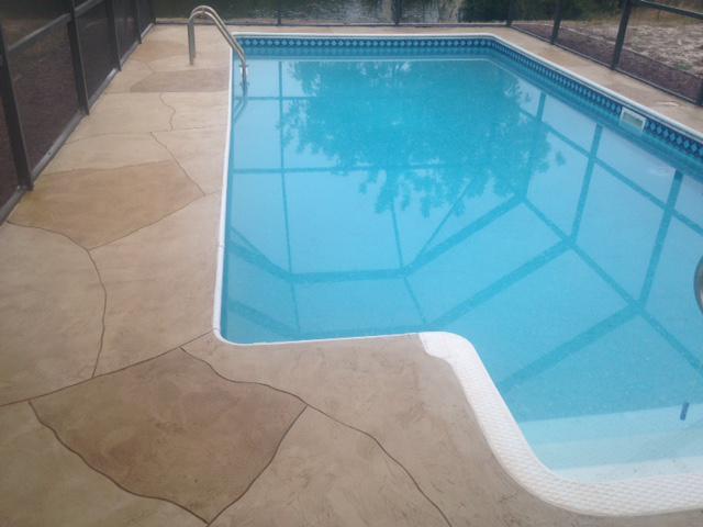 Pool Decks and Pavers | Spraycreate Stone Pattern