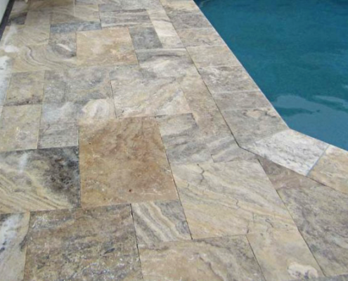 Pool Renovations by Mr. Marcite | Travertine Tile
